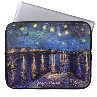 Vincent van Gogh, Starry Night over the Rhone Laptop Sleeve