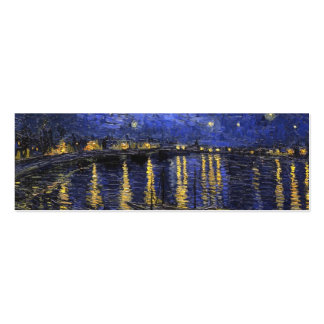 Vincent Van Gogh Starry Night Over The Rhone Pack Of Skinny Business Cards
