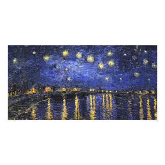 Vincent Van Gogh Starry Night Over The Rhone Personalized Photo Card