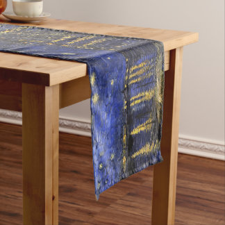 Vincent Van Gogh Starry Night Over The Rhone Short Table Runner