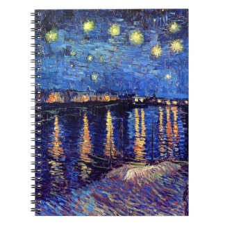 Vincent Van Gogh - Starry Night Over The Rhone Spiral Note Books
