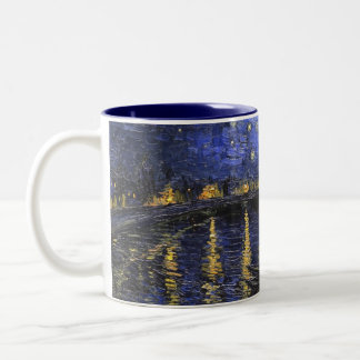 Vincent Van Gogh Starry Night Over The Rhone Two-Tone Mug