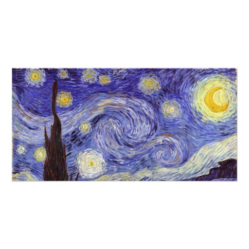 Vincent Van Gogh Starry Night Personalized Photo Card