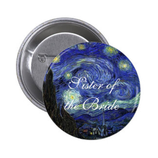 Vincent van Gogh Starry Night Pinback Buttons
