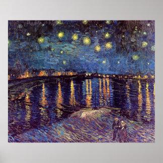 Vincent van Gogh Starry Night, Post Impressionism Poster