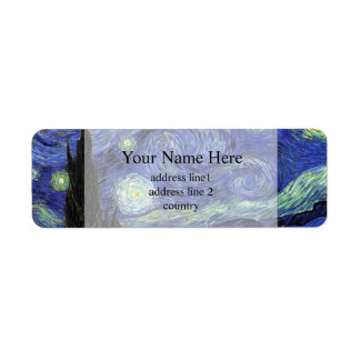 Vincent van Gogh,Starry Night Return Address Label