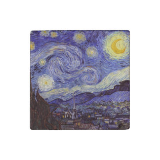 Vincent Van Gogh Starry Night Stone Magnet
