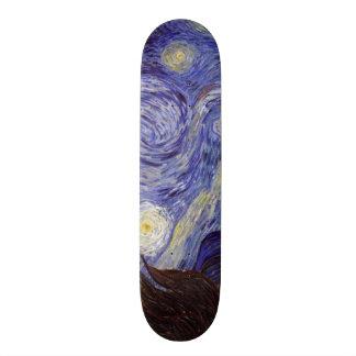 Vincent Van Gogh Starry Night Vintage Fine Art 21.6 Cm Old School Skateboard Deck