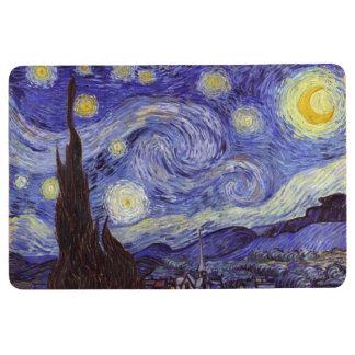 Vincent Van Gogh Starry Night Vintage Fine Art Floor Mat