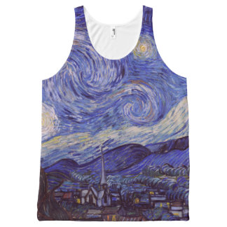 Vincent Van Gogh Starry Night Vintage Fine Art All-Over Print Tank Top