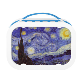 Vincent Van Gogh Starry Night Vintage Fine Art Lunch Box