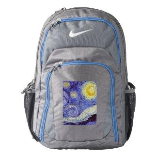 Vincent Van Gogh Starry Night Vintage Fine Art Backpack