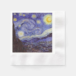 Vincent Van Gogh Starry Night Vintage Fine Art Paper Serviettes
