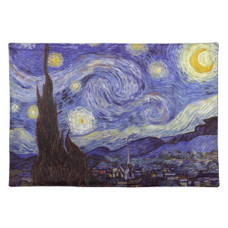Vincent Van Gogh Starry Night Vintage Fine Art Placemat