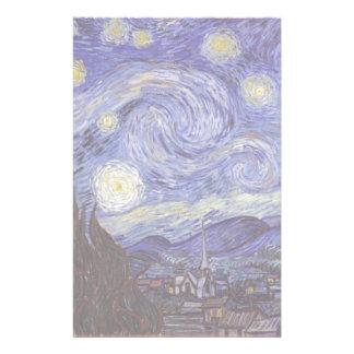 Vincent Van Gogh Starry Night Vintage Fine Art Stationery Paper