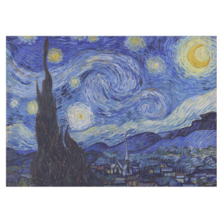 Vincent Van Gogh Starry Night Vintage Fine Art Tablecloth