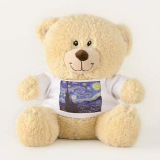 Vincent Van Gogh Starry Night Vintage Fine Art Teddy Bear