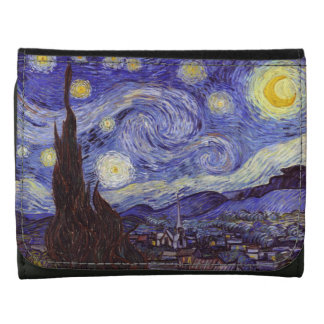 Vincent Van Gogh Starry Night Vintage Fine Art Wallets
