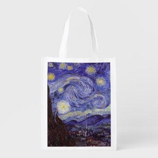 Vincent Van Gogh Starry Night Market Totes