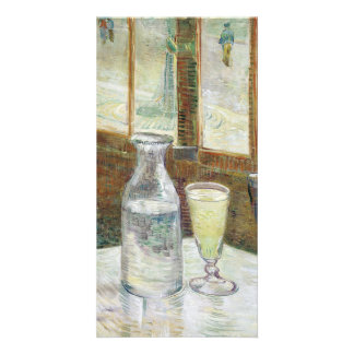 Vincent Van Gogh Still Life With Absinthe Fine Art Custom Photo Card