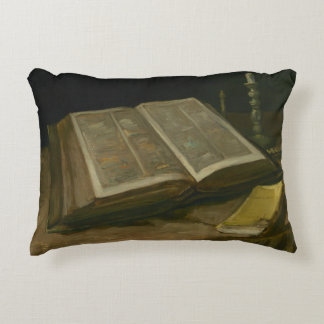 Vincent van Gogh - Still life with Bible Decorative Cushion