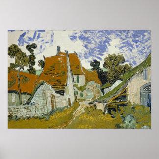 Vincent van Gogh - Street in Auvers-sur-Oise Poster
