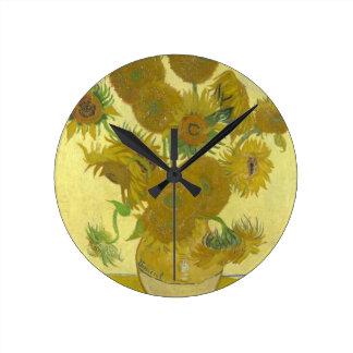 Vincent van Gogh Sunflowers 1888 Flowers Painting Wall Clocks