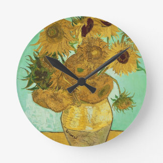 Vincent van Gogh | Sunflowers, 1888 Round Clock