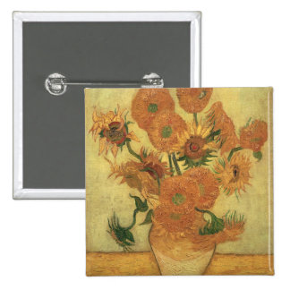 Vincent van Gogh | Sunflowers, 1889 15 Cm Square Badge