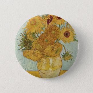 Vincent Van Gogh -  Sunflowers 6 Cm Round Badge