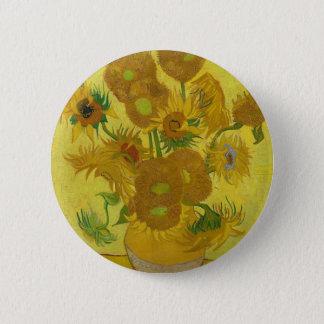 Vincent Van Gogh Sunflowers - Classic Art Floral 6 Cm Round Badge