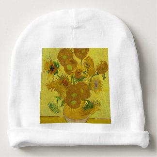 Vincent Van Gogh Sunflowers - Classic Art Floral Baby Beanie