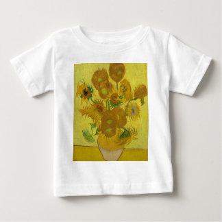 Vincent Van Gogh Sunflowers - Classic Art Floral Baby T-Shirt