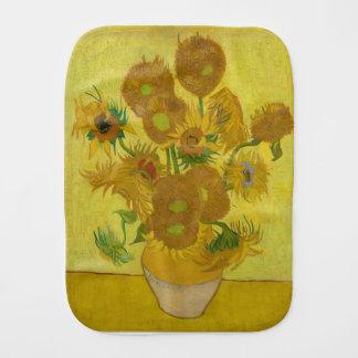 Vincent Van Gogh Sunflowers - Classic Art Floral Burp Cloth