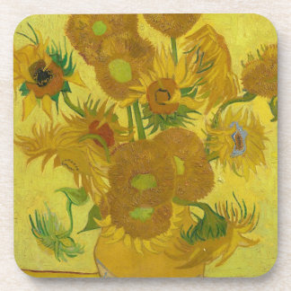 Vincent Van Gogh Sunflowers - Classic Art Floral Coaster