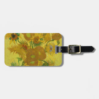 Vincent Van Gogh Sunflowers - Classic Art Floral Luggage Tag