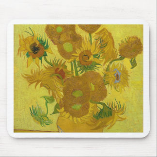 Vincent Van Gogh Sunflowers - Classic Art Floral Mouse Pad