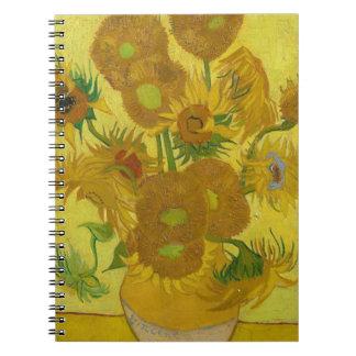 Vincent Van Gogh Sunflowers - Classic Art Floral Notebooks