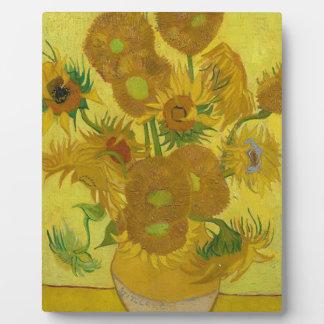 Vincent Van Gogh Sunflowers - Classic Art Floral Plaque