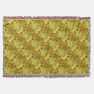 Vincent Van Gogh Sunflowers - Classic Art Floral Throw Blanket