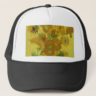Vincent Van Gogh Sunflowers - Classic Art Floral Trucker Hat