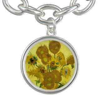 Vincent Van Gogh Sunflowers Fine Art Bracelet