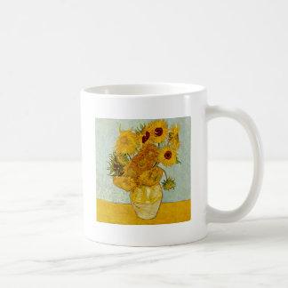 Vincent Van Gogh Sunflowers Masterpiece Basic White Mug