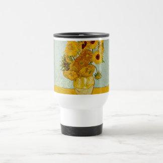 Vincent Van Gogh Sunflowers Masterpiece Stainless Steel Travel Mug