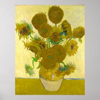 Vincent Van Gogh Sunflowers Poster