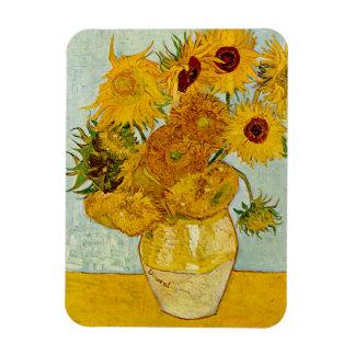 Vincent Van Gogh Sunflowers Vinyl Magnets