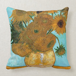 Vincent van Gogh-Sunflowers Throw Pillow