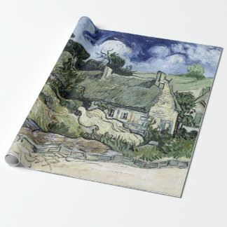 Vincent van Gogh Thatched Cottage at Cordeville Wrapping Paper