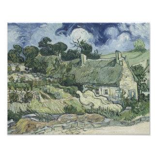 Vincent van Gogh - Thatched Cottages at Cordeville Art Photo