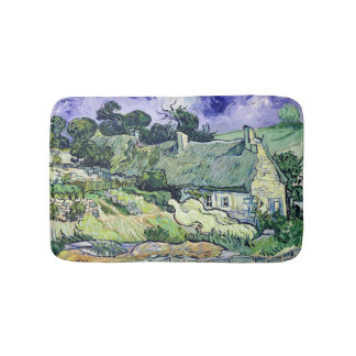 Vincent van Gogh | Thatched cottages at Cordeville Bath Mat